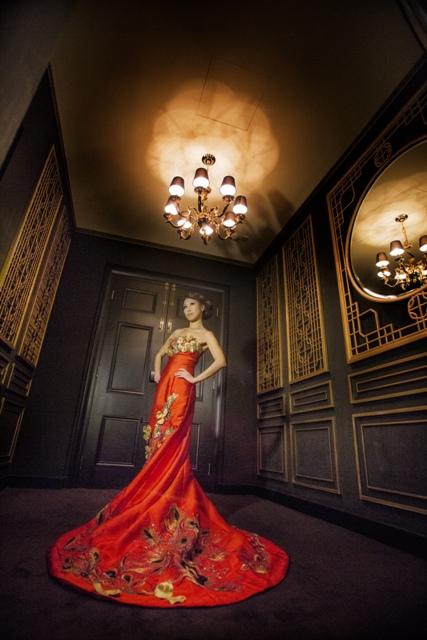 Angie Palmer, fashion model at Hullett House
