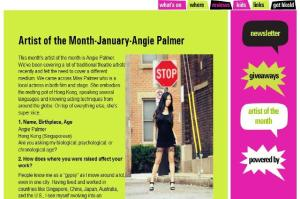 Artist of the month - Angie Palmer